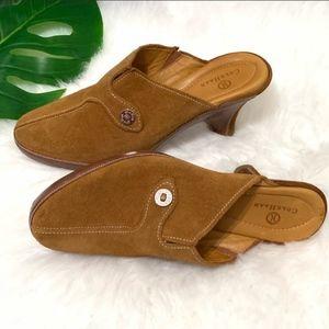 Cole Haan D15244 Amber Suede Devon Clog Mules Heel